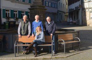Andreas Huth, Wolfgang Milde, Axel Rolla und Antje Zeug-Bader. Die Abendspaziergangs-Organisatoren (v.l.n.r.)