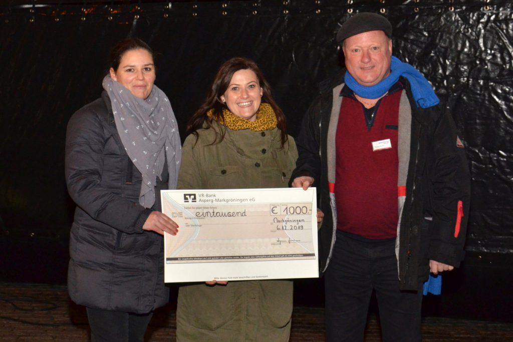 Markgröningen aktiv spendet 1.000 Euro für den Kindergarten Arche