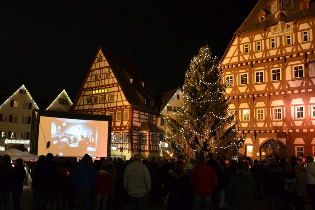 """Open-Air-Kino """"Die Feuerzangenbowle"""" 2019 auf dem Markgröninger Marktplatz"""