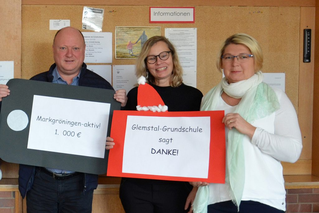 iPads für die Glemstal-Grundschule: Markgröningen aktiv spendet 1.000 Euro