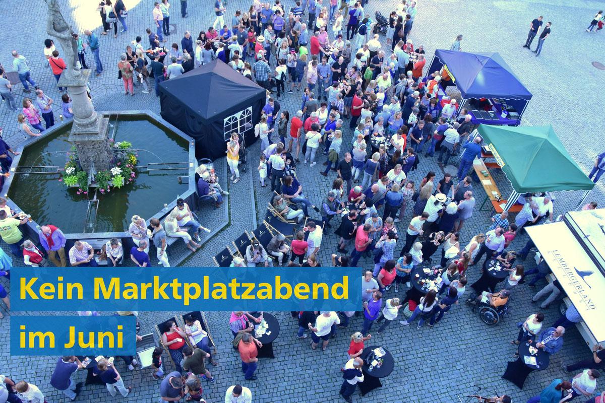 Kein Markgröninger Marktplatzabend im Juni 2020